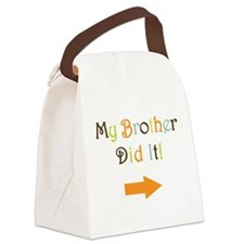 Cute Twin brother Canvas Lunch Bag
