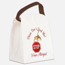 Funny Food allergy Canvas Lunch Bag