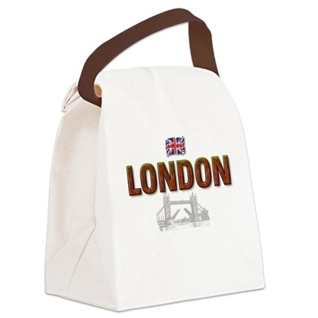 London with Tower Bridge Desi Canvas Lunch Bag