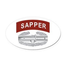Sapper CAB Oval Car Magnet