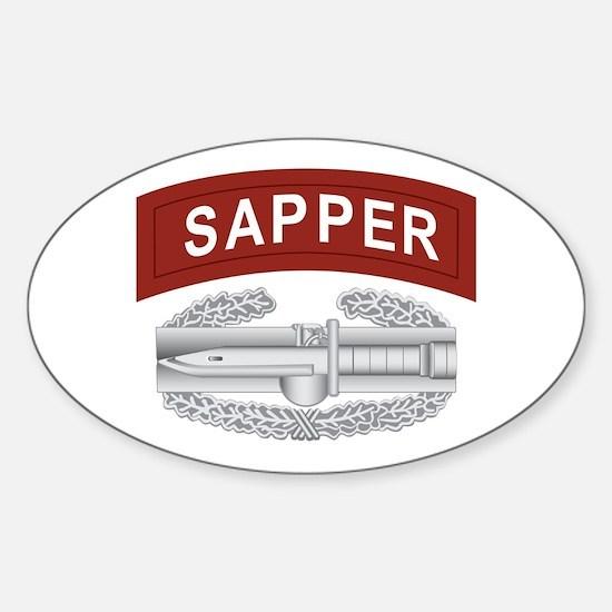 Sapper CAB Sticker (Oval)