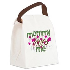 Mommy Loves Me Canvas Lunch Bag
