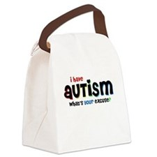 I Have Autism - Canvas Lunch Bag