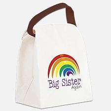 Big Sister Again Rainbow Canvas Lunch Bag