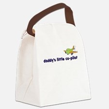 ::: Daddy's Little Co-Pilot ::: Canvas Lunch Bag