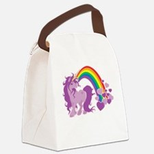 GIRLY UNICORN Canvas Lunch Bag