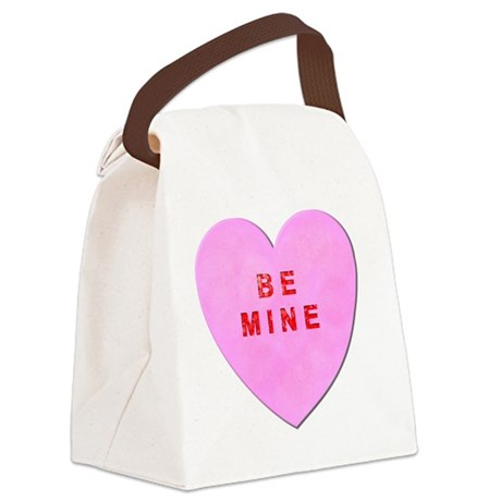 Be Mine Valentine Canvas Lunch Bag
