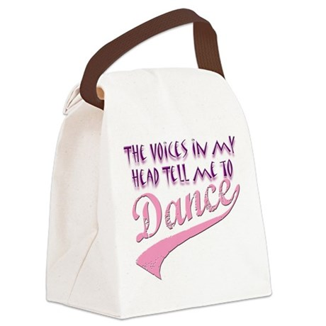 Voices in my head tell me to Canvas Lunch Bag