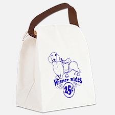 Weiner Rides 25 cents Canvas Lunch Bag