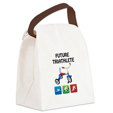 Funny Swim bike run Canvas Lunch Bag