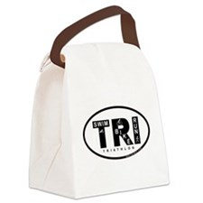 Thiathlon Swim Bike Run Canvas Lunch Bag