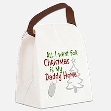 My Santa Wish Came True Canvas Lunch Bag
