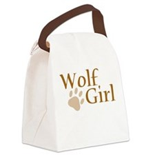 Wolf Girl Canvas Lunch Bag