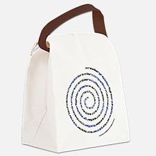 Spiral Wrestler Words Canvas Lunch Bag