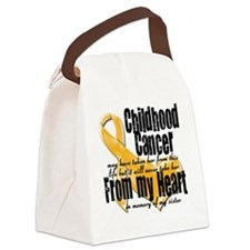 Sister Childhood Cancer Canvas Lunch Bag