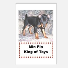 Min Pin King of Toys Postcards (Package of 8)