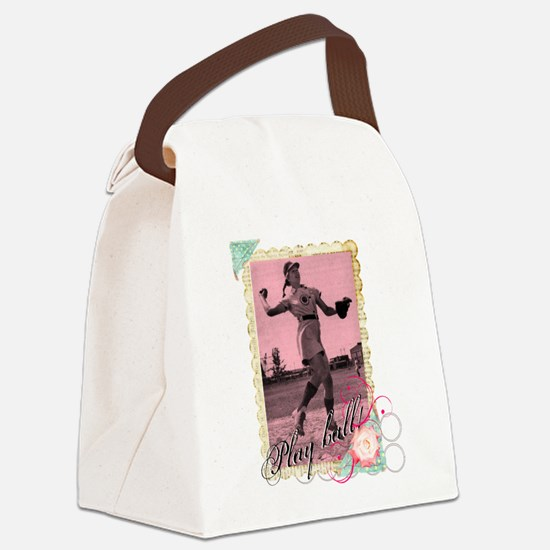 Play Ball Canvas Lunch Bag