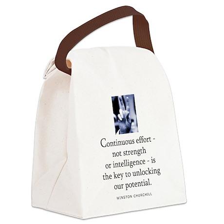 Continuous effort Canvas Lunch Bag