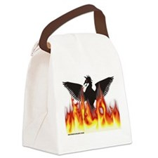 Unique Phoenix bird Canvas Lunch Bag