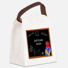 Chalk Board 2nd Grade Canvas Lunch Bag