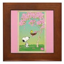 Woodstock in the Cherry Blossoms Framed Tile