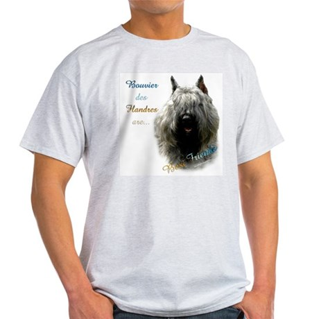 Bouvier Best Friend Ash Grey T-Shirt