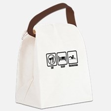 Eat, Sleep, Backstroke Canvas Lunch Bag