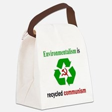 Anti Green Canvas Lunch Bag
