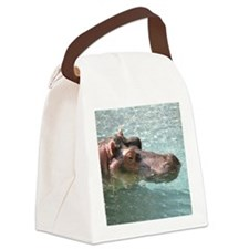 Helaine's Hippo Canvas Lunch Bag