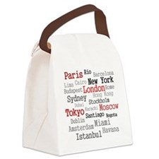 World Cities Canvas Lunch Bag