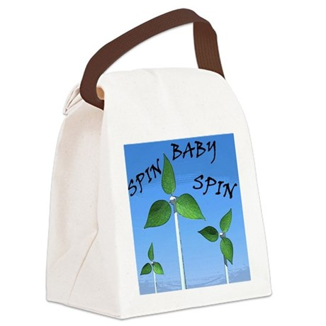 Spin Baby Spin Canvas Lunch Bag