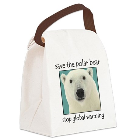 Polar bear Canvas Lunch Bag