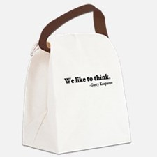 We like to think Canvas Lunch Bag
