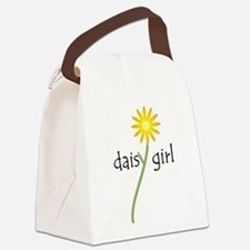 Yellow Daisy Girl Canvas Lunch Bag