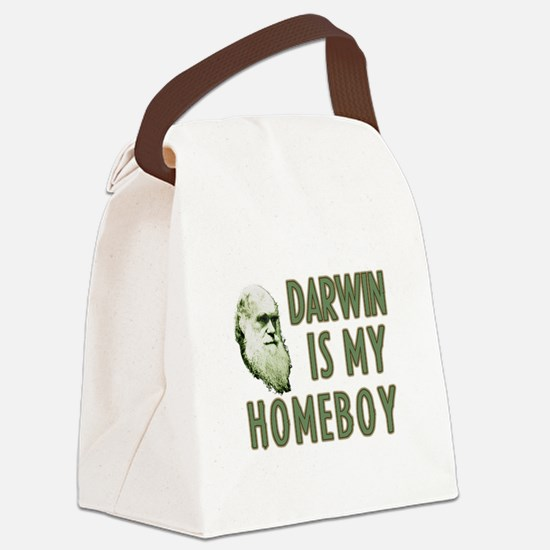 Darwin is my Homeboy Canvas Lunch Bag