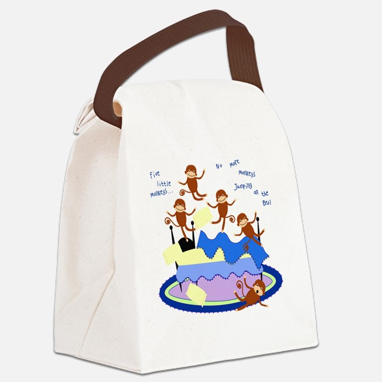 Five little Monkeys... Canvas Lunch Bag