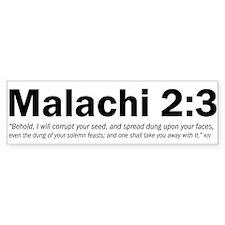 Malachi 2:3 Bumper Bumper Sticker