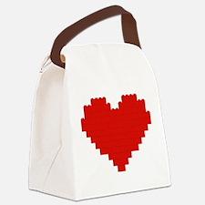 I heart building blocks Canvas Lunch Bag