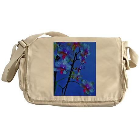 blue orchids Messenger Bag