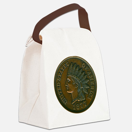 The Indian Head Penny Canvas Lunch Bag