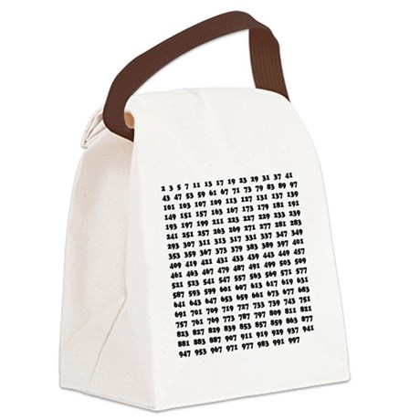 Prime Numbers List Canvas Lunch Bag