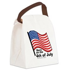 Born on the 4th of July Canvas Lunch Bag