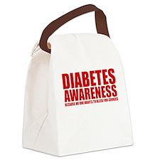Diabetes Awareness Canvas Lunch Bag