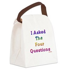 Four Questions Passover Canvas Lunch Bag