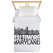 Baltimore Skyline Twin Duvet
