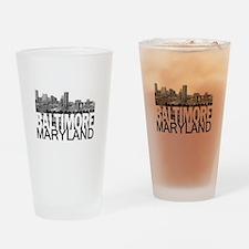 Baltimore Skyline Drinking Glass