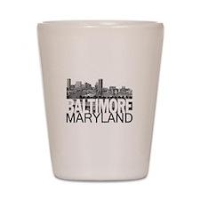 Baltimore Skyline Shot Glass