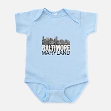 Baltimore Skyline Infant Bodysuit