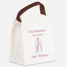 Princess Personalized Birthda Canvas Lunch Bag