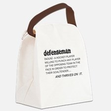 Defenseman Canvas Lunch Bag